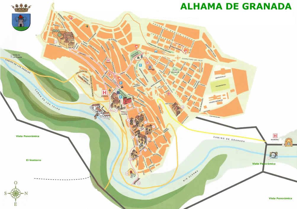 Antiguos Baños Arabes Granada:Alhama de Granada – Alhama de Granada Plano