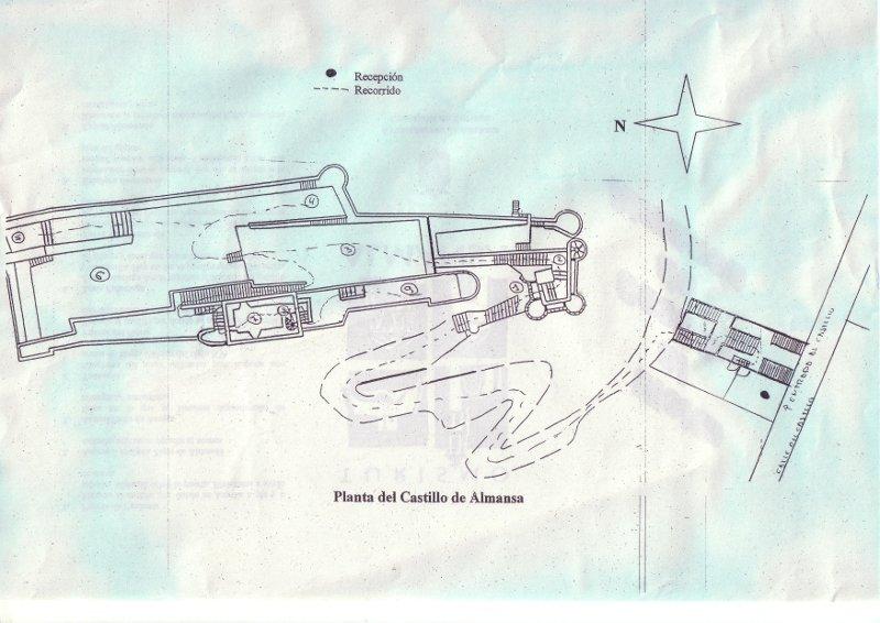 Castillo de almansa - Plano de almansa ...