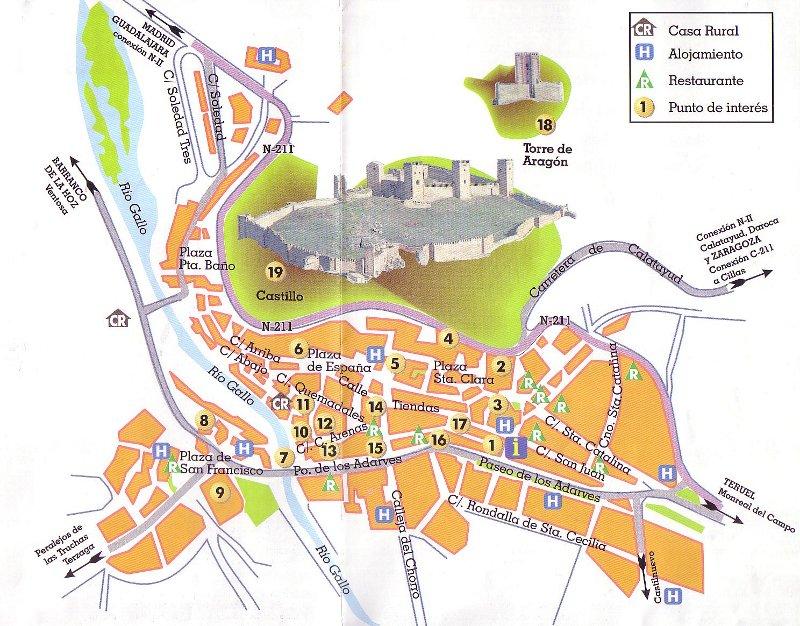 Molina De Aragon Mapa.Molina De Aragon