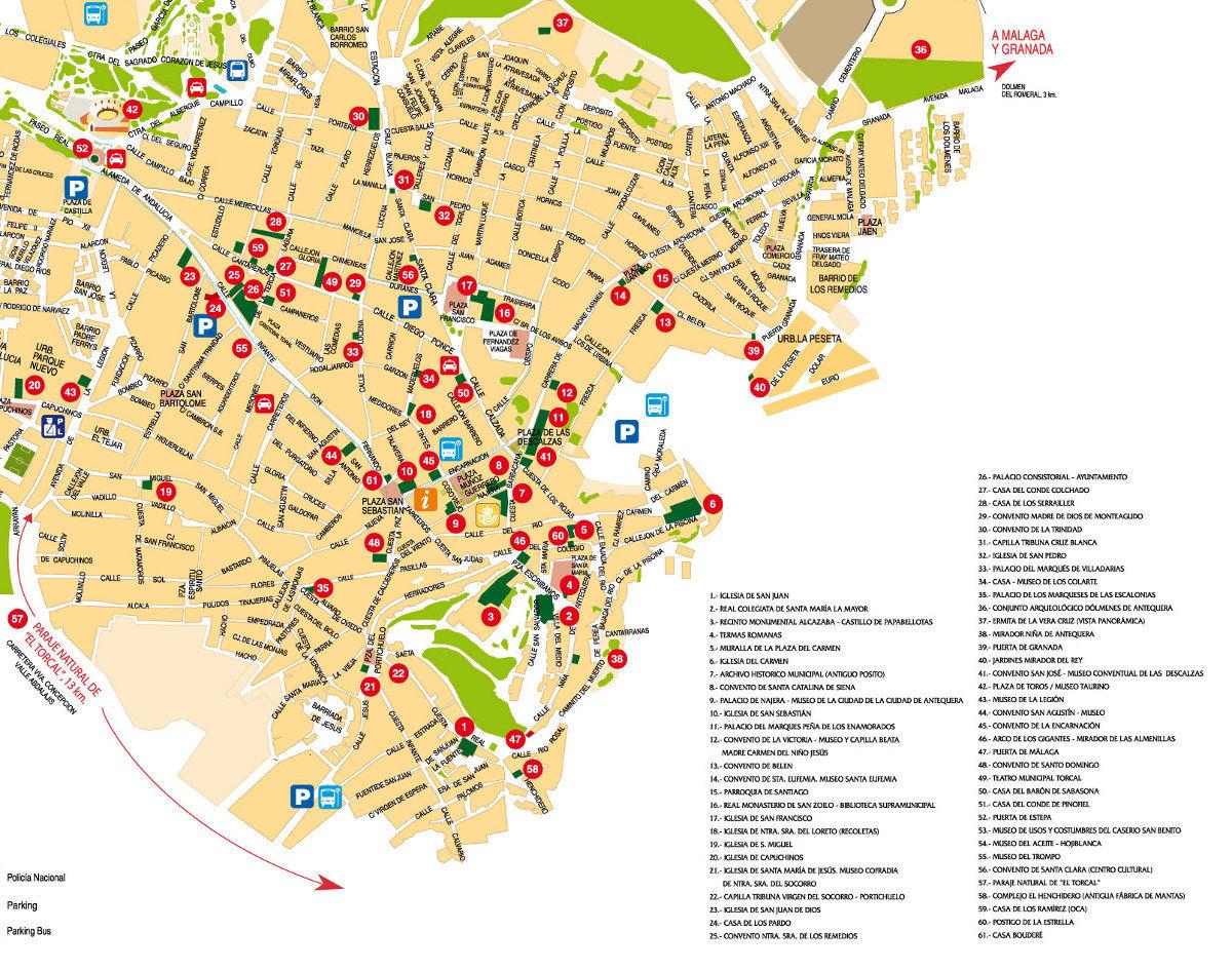 Mapa De Antequera Malaga.Antequera
